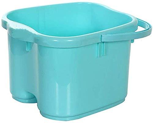 Voetbad met massagerol, hoogte gewatteerd voetbad barrel thermische voetbad huishoudvoetbad kunststof voetbad wastafel blauw