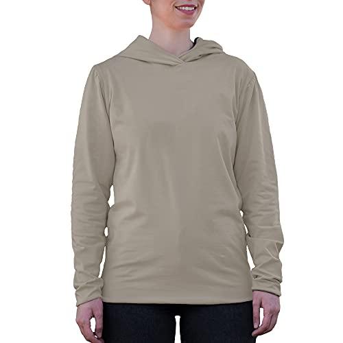 BlocWave EMF Shielding Sudadera con capucha para mujer con tela de protección RF - marfil - XX-Large