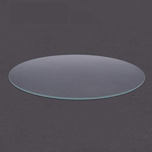 Accessori per le parti della stampante 3D, lastra in vetro temperato rotondo in vetro borosilicato per stampante 3D Diametro 200 mm 220 mm 240 mm Letto riscaldato Piatto trasparente Compatibile con Ko