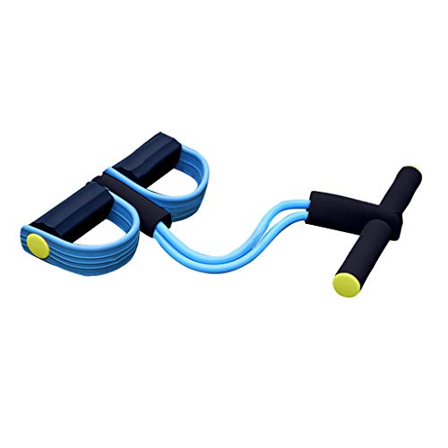 Best Exercise Bands Workout Equipment Resistance Bands Ankle Puller Sit Up Mat Pull Rope Foot Pedal Exerciser Fitness Equipment Home Gym Yoga Fitness Slimming Training (yellow, 6 x 11 x 1040cm)