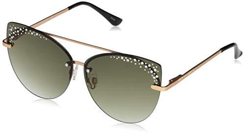 Vince Camuto – anteojos de sol no polarizadas para mujer, color oro rosa/pistola, talla única