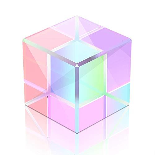 Optisches Glas Würfel Prisma Kunst 6 Seiten Kristall Regenbogen Maker reflektierende Lichtspektrum Physik Foto Fotografie Prisma 15mm