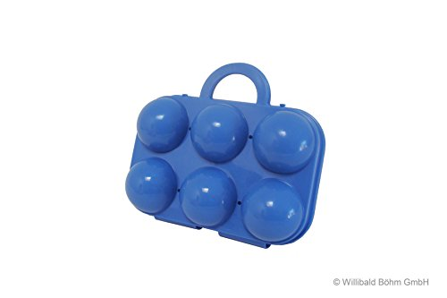 Eierträger 6-fach, pastell-blau - Sonja-PLASTIC - Made in Germany