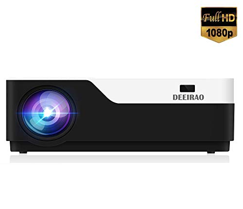 WYJW thuisbioscoopprojector, 1080P, led-lamp, HDMI, USB, VGA, Full HD, 1920 x 1080, compatibel met Fire TV Stick PS4 Xbox360 Bluray-speler 300 inch beeld