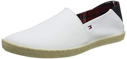 Tommy Hilfiger Herren Easy Summer Slip ON Espadrilles, Weiß (White 100), 44 EU