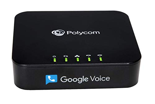Obihai OBi202 2-Port VoIP Phone Adapter with Google Voice and Fax Support for Home and SOHO Phone Service, Black