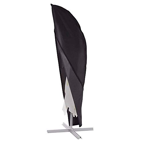 Samine Housse de Protection pour Parasol Oxford étanche d'extérieur Parapluie Coque Parasol (Noir)