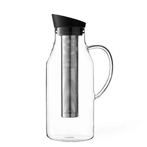 Viva Scandinavia Carafe eau en verre borosilicate, infuseur amovible en acier inoxydable, bec anti-gouttes, thé en vrac, thé à feuilles, 1.8 L 9102128
