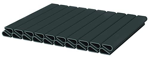 WDB 20 clip di fissaggio in PVC per strisce frangivista – Paravento per giardino e recinzione – Doppia recinzione (antracite – RAL 7016)