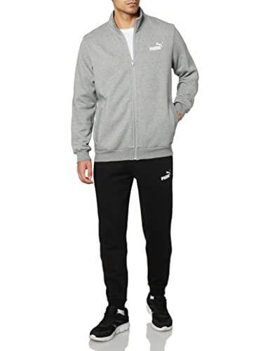 PUMA Herren Clean Sweat Suit FL Trainingsanzug, Mittelgrau, HEA, XL