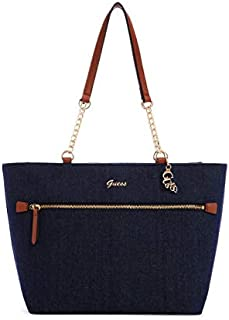 Guess Women's Logo Carryall Hand Bag/Shoulder Bag, Angelic Denim - Blue
