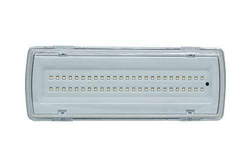 Lámpara de techo de emergencia de 50LED con potencia de 4W, flujo luminoso de 406lm y posibilidad de montaje en pared, 91062