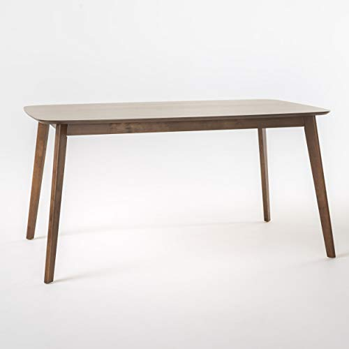 Christopher Knight Home Nyala Wood Dining Table, Natural Walnut Finish