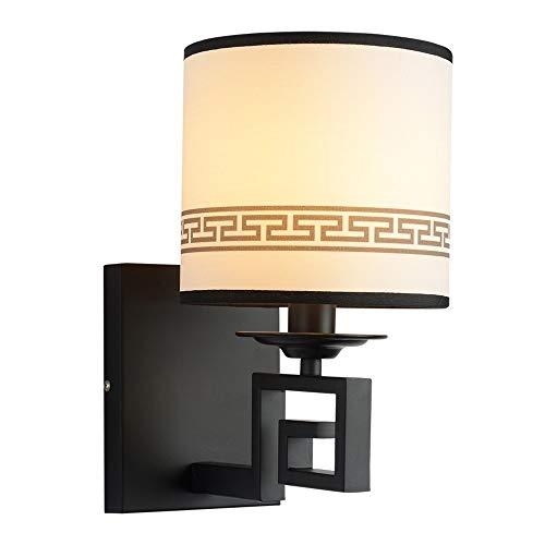 Nordic retro minimalista lámpara de pared balcón estilo europeo luz de pared creativo labrado hierro de hierro de pared de pared luminaria antirust tela de fondo dormitorio de noche iluminació
