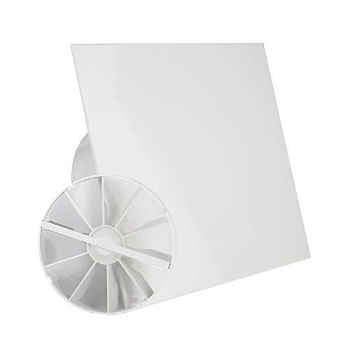 MKK woonkamerventilator badventilator ventilator Ø 125 mm wit laag verbruik 6 watt kogellager terugslagklep