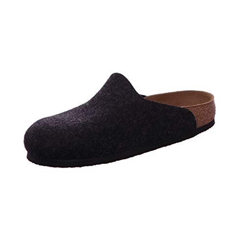 Birkenstock Amsterdam, Unisex Adults' Without Lining Slippers, Grey (Anthracite), 9.5 UK (44 EU)