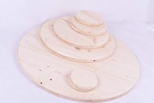 Holzscheibe Rund Holz Dreischicht Fichte Faßtisch 27mm 10-1000mm Tischplatte (950 mm)