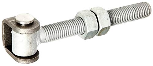 Gah-Alberts 418373 - Piastra per cerniera con viti, in acciaio grezzo per saldatura M20