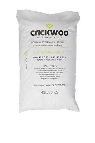 Crickwoo Humus de lombriz 25L (15 kg)