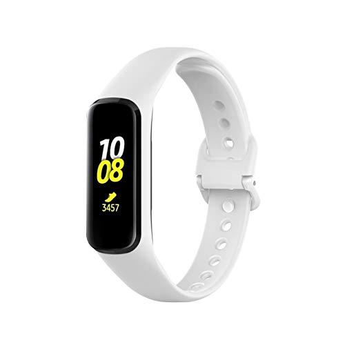 Comtax Compatible with Samsung galaxy fit 2 SM-R220 シリコンバンド 腕時計 ベルト 防水 スポーツバンド (ホワイト)