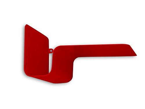 Element System Wandregal aus Metall / Julien single Bücherregal Dekoregal, 295 x 150 x 180 mm, rot, 11344-00002