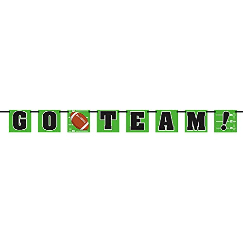 6ft Paper Go Team Football Party Banner