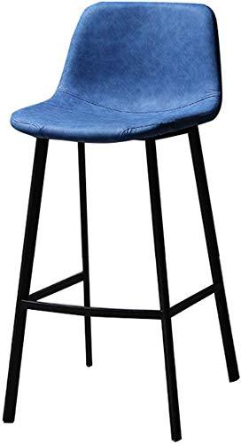 JYFXP Barhocker aus Kunstleder Metall, Barstuhl Barstühle Tresenhocker Bistrohocker mit lehne und Fußstütze, Küchenarbeitsplatte mit 150 kg Tragkraft