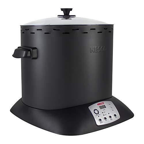 NESCO ITR-01-13, Digital Infrared Upright Turkey Roaster, Oil Free, 1420 Watts, Black