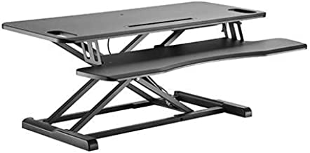Brateck Gas Spring Sit Stand Desk Converter with Keyboard Tray Deck