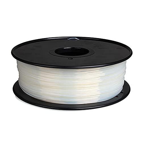 Nylon Filament 1.75mm 3D Printer PA Filament Accuracy +/- 0.03mm 1KG 2.2LBS Spool 3D Printing Filament for 3D Printers-Transparent_1.75mm