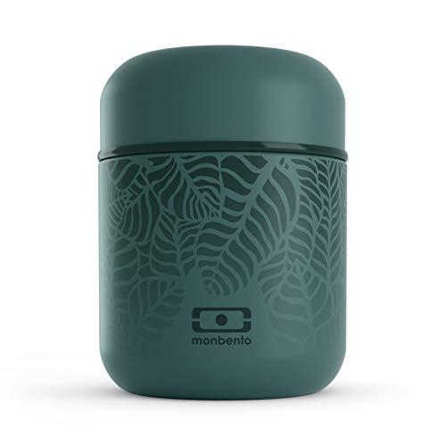 monbento - MB Capsule Graphic Jungle Vert Feuilles Petite Lunch Box Isotherme - Petite boîte bento Qui Garde Votre Repas Chaud - sans BPA - Durable et sûre