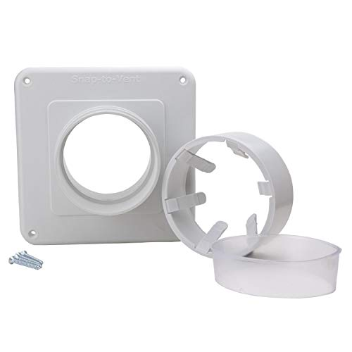 Snap to Vent Wall Plate Adapter, Easy Connect Dryer Hose System by Ziggurat Products
