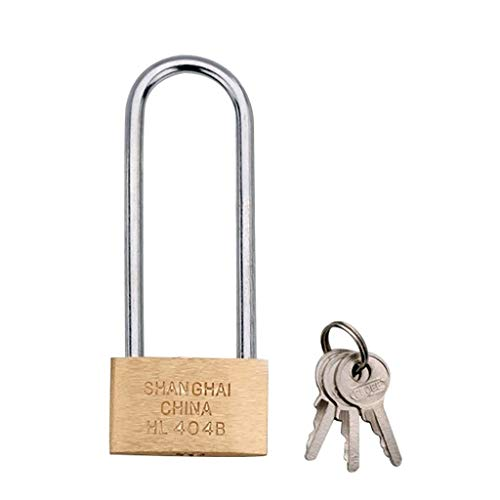RUNNA Copper Padlock Small Lock, Style: Long Lock Beam, 40mm Not Open