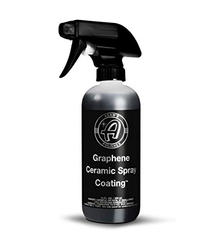 Adam's UV Graphene Ceramic Spray Coating – A True Graphene Spray W/UV Tracer Technology - Easy-to-Use & Stronger Than Car Wax Polish or Top Coat Polymer Paint Sealant for Car, Boat, RV, Truck (12 Oz)