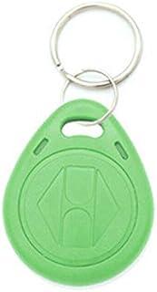10x 125Khz RFID Badges d'identification avec porte-clés, type réinscriptible, lecture et réécriture, puce T5577 compatible...