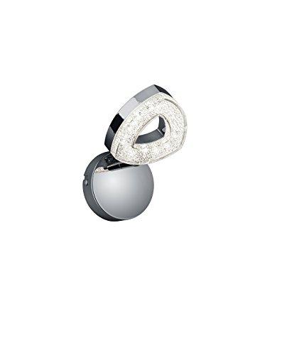 Reality Leuchten R82131106 Tours A+, Wandleuchte, Metall, 4.5 W, Integriert, chrom, 14.5 x 8.8 x 13.0 cm
