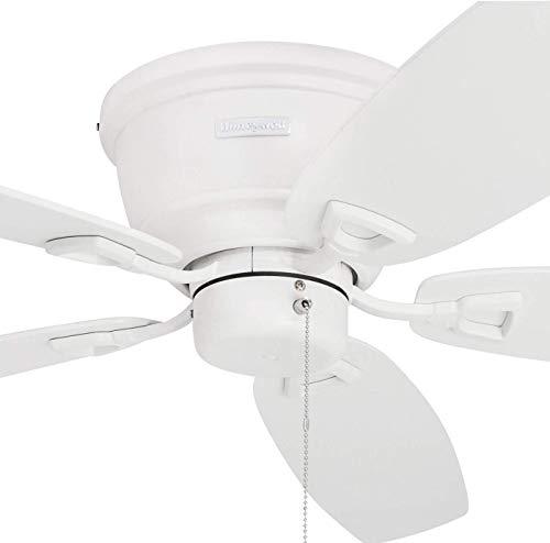 Honeywell Ceiling Fans 50180 Honeywell Glen Alden 52-Inch Flush Mount, Low Profile White Hugger Ceiling Fan