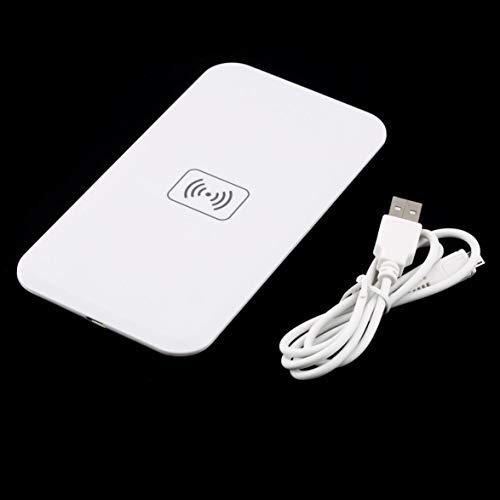 Sylvialuca Slim Thin Design Universal QI Standard Ladestation Mobiltelefon mit 1 Port Nero USB Stromkabel Schwarz Weiß