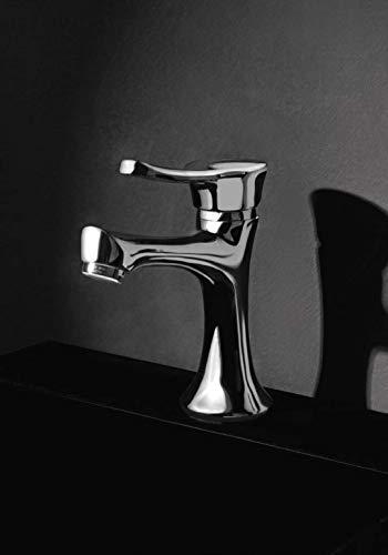 EFFEPI Monocomando lavabo Belinda Cromato con attacchi da 3/8 e Scarico da 1' 1/4'