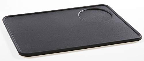 VIENESSO Tampermatte aus Silikon - die perfekte Tamping-Matte für alle Größen, Barista Zubehör für jeden Profi, Silikonunterlage für Siebträger, Tamper Ablage (schwarz, 20x15 cm)