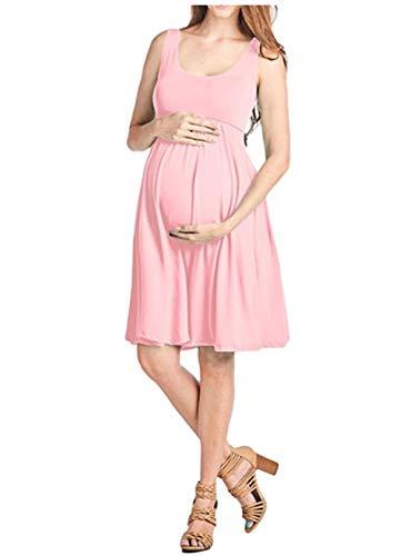 FEIFUSHIDIAN Capuche Femme Gilet Slim Col Rond Robe Femmes Enceintes Mis sur Une Grande Étendue Bloquer Pull-up ( Color : Pink , Size : L )