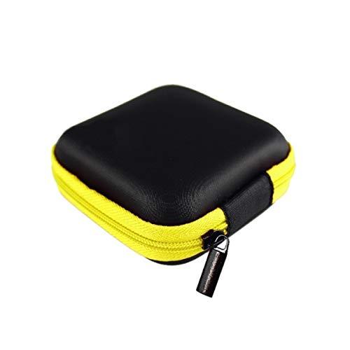 WOOAI Square Oortelefoon Draad Organizer Box Data Line Kabels Opbergdoos Case Container Coin Hoofdtelefoon Beschermende Doos 8 cm