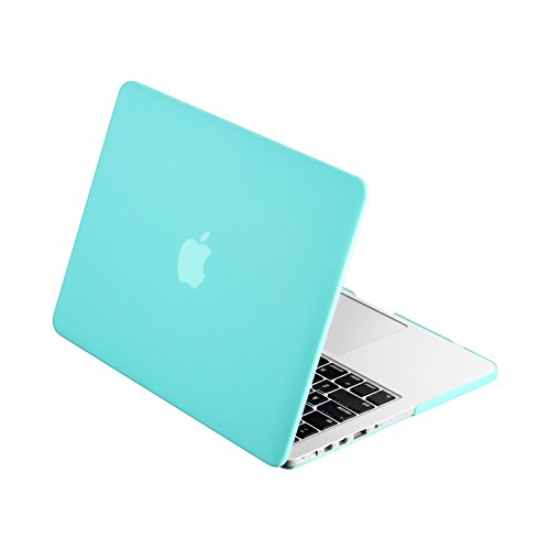 TopCase Turquoise Rubberized Hard Case Cover for Apple MacBook Pro 13.3' with Retina Display Model: A1425 and A1502 (NEWEST VERSION 2013) + TopCase Mouse Pad