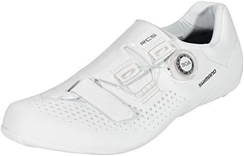 SHIMANO SH-RC5 Fahrradschuhe Weit Herren weiß Schuhgröße EU 42 2021 Rad-Schuhe Radsport-Schuhe