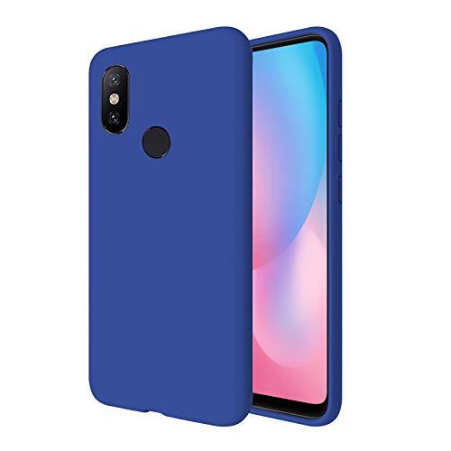 """TBOC Funda para Xiaomi Mi A2 - Mi 6X [5.99""""] - Carcasa Rígida [Azulina] Silicona Líquida Premium [Tacto Suave] Forro Interior Microfibra [Protege la Cámara] Antideslizante Resistente Suciedad Arañazos"""