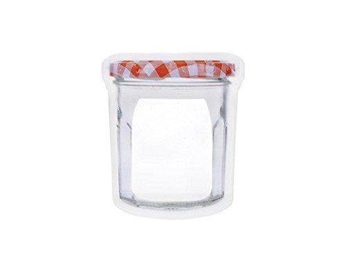 Kikkerland CU159-S Lot de 4 Sacs à Fermeture éclair, Plastique, Blanc, 13,5 x 0,5 x 20,5 cm