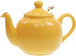 Globe London Pottery 6 Cup Yellow Filter Teapot 17274122