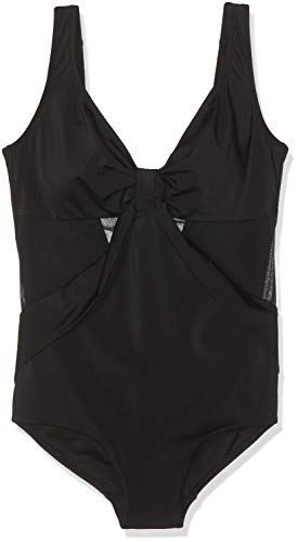 LOVABLE Elegance Shapewear Costume da Bagno, Nero (Nero 004), (Taglia Produttore:34 D) Donna