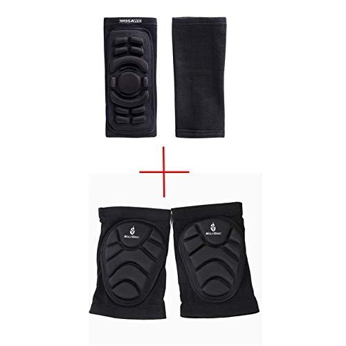 Ellenbogen Knieschützer Mountainbike Radfahren ion Set Tanzen Knieorthese Unterstützung MTB Downhill Tape Motorrad Knie oder - schwarz X XL