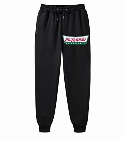 ALIBOTE Krispy Kreme - Pantalones de chándal cómodos para hombre